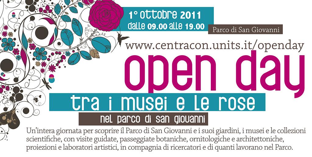 """open day """"tra i musei e le rose"""""""