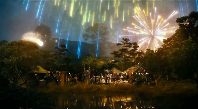 hobbiton gandalf fireworks