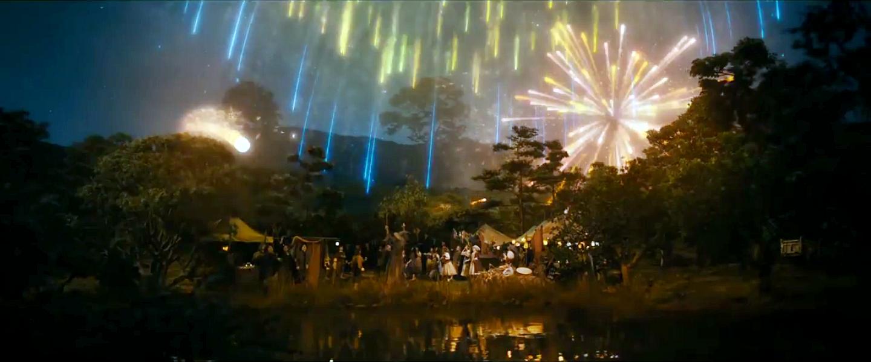 Gandalf fireworks @ Hobbiton
