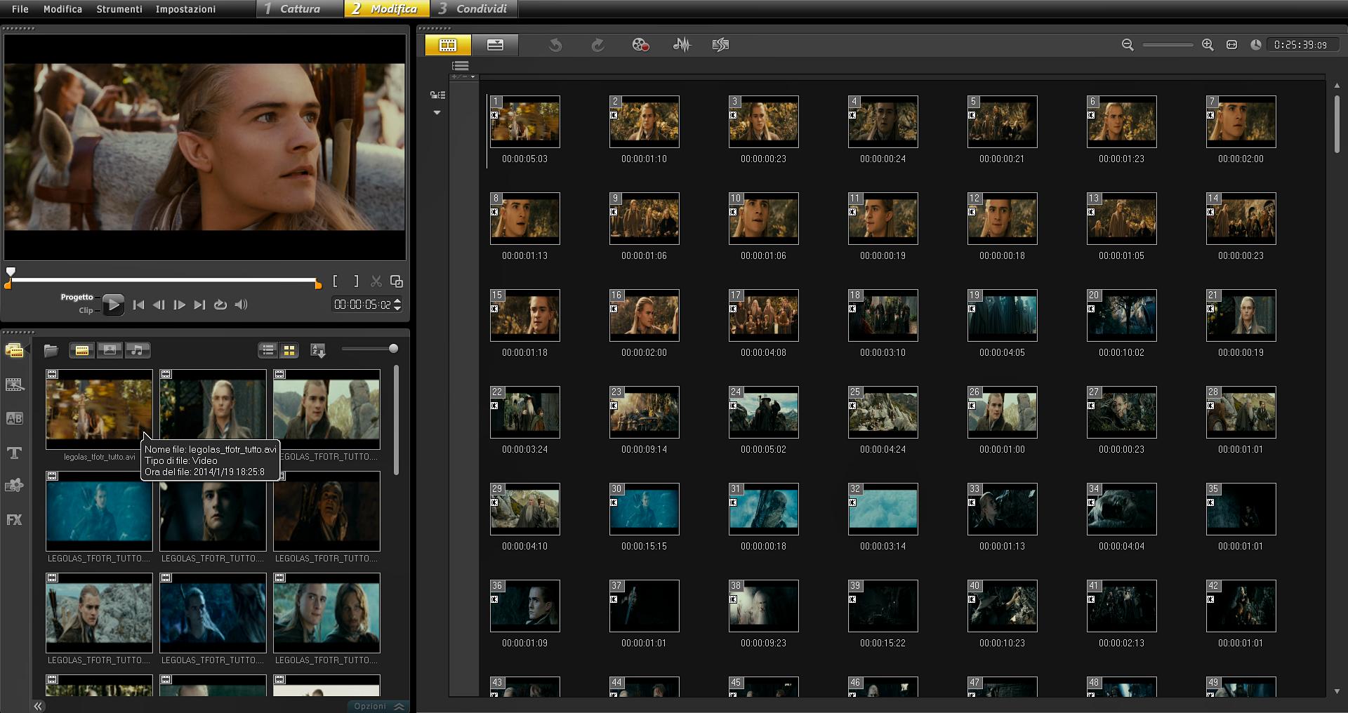 Corel VideoStudio Pro X5: layout personalizzato © leeliah99.altervista.org