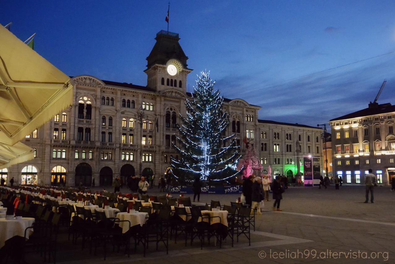 L'albero di Natale in Piazza Unità a Trieste © leeliah99.altervista.org