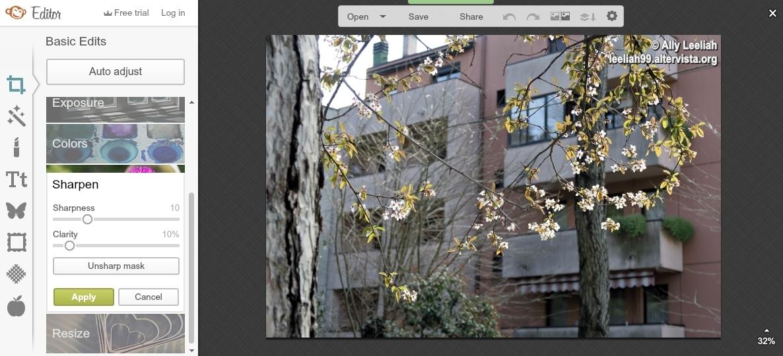 PicMonkey Basic Edits: Sharpen