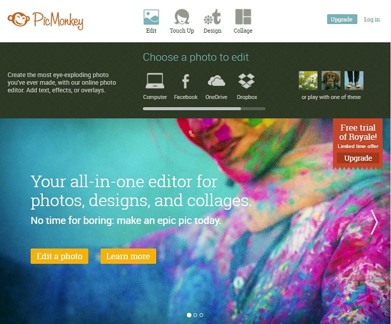 PicMonkey: editor gratuito online