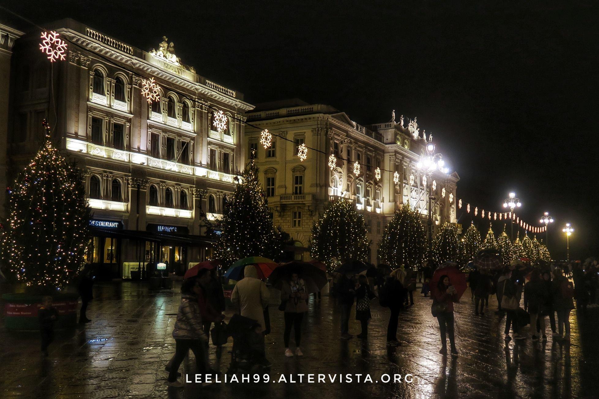 Luci natalizie in Piazza Unità d'Italia a Trieste © leeliah99.altervista.org