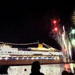 Fuochi d'artificio sul Molo Audace per l'inaugurazione della Costa Favolosa a Trieste © leeliah99.altervista.org