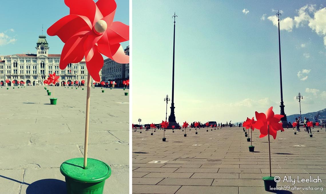 Girandole in Piazza Unità a Trieste per la Giornata Mondiale dell'Ambiente © leeliah99.altervista.org