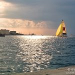 Barca a vela dal Molo Audace a Trieste © leeliah99.altervista.org