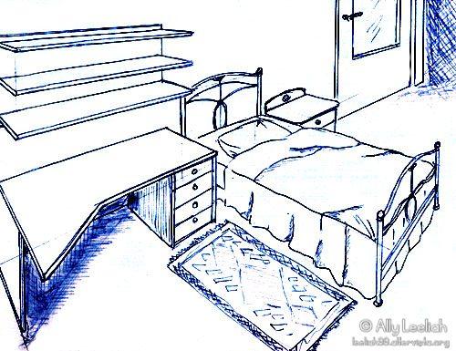 Disegno della mia stanza © leeliah99.altervista.org