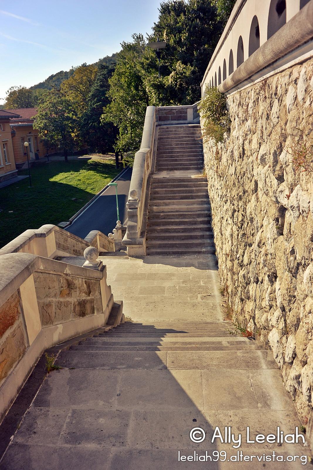 La scalinata del Parco di San Giovanni, Trieste © leeliah99.altervista.org